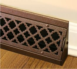 decorative baseboard air vents | Custom air supply register, air return grille, air vent, baseboard air ...