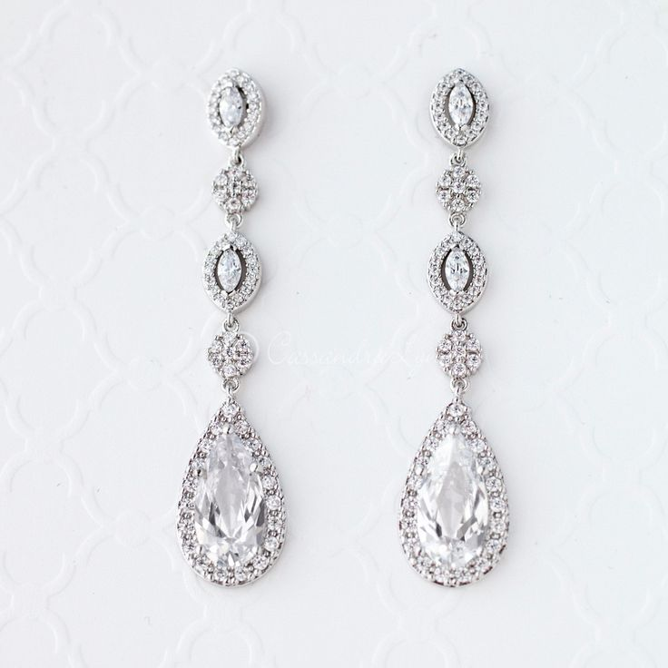 41 best Sterling Silver CZ Wedding Jewelry images on Pinterest Diy
