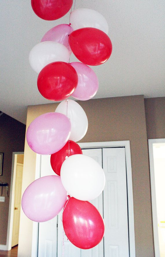 111 best valentine 39 s day images on pinterest valentine for Balloon decoration for valentines day