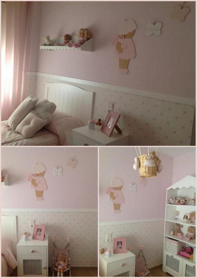 Bonita y sencilla decoración para la habitación de tu niña.