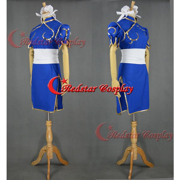 Street Fighter Halloween Cosplay Chun Li Cosplay Costume Chunli Dress... ($66) via Polyvore featuring costumes, role play costumes, chun li costume, cosplay costumes, chun li cosplay costume and chun li halloween costume