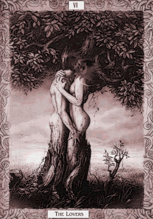 Tarot card. The Lovers.