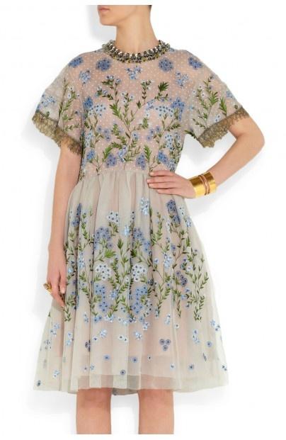 Biyan Audrey embellished tulle dress