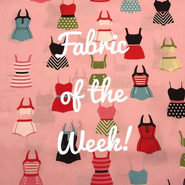 Fabric of the Week! Since this week marks the official start of summer what better feature than Samantha Walker's swimsuits for Riley Blake Designs! 20% off through Sunday, June 25th. Link to shop in bio! #etsysellersofinstagram #quilting #momrunbusiness #smallbusiness #etsyshop #etsyseller #fabricshop #fabricsale #fabricforsale #fabricoftheweek #sewing #craftsupplies #swimsuits #rileyblakedesigns #samanthawalker #summerfabric