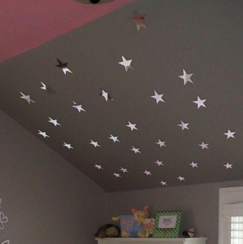 Nalepovacie dekoračné zrkadlá hviezdy