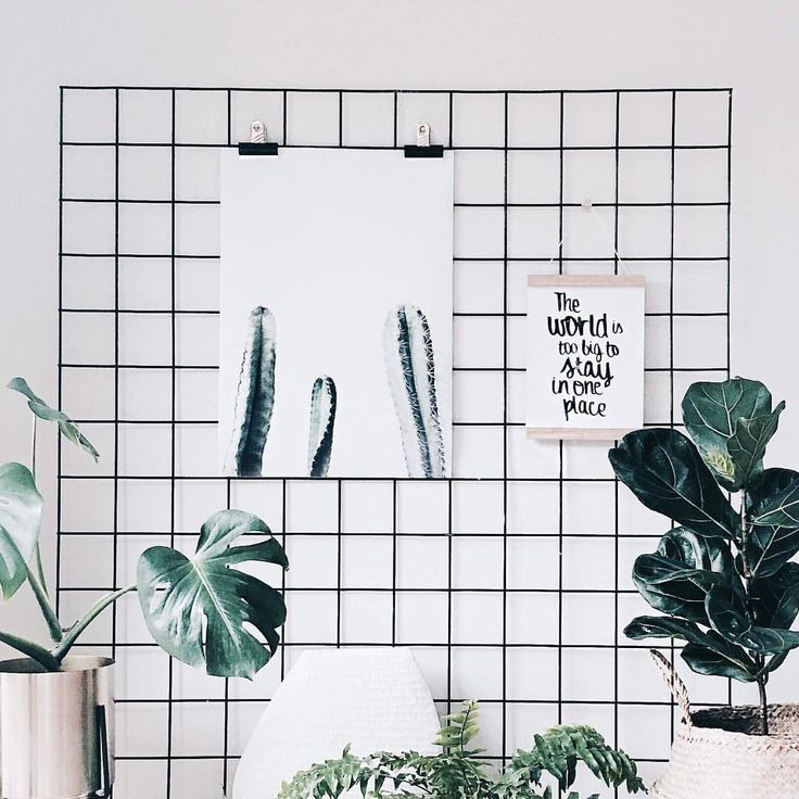 Urban jungle memo board in Scandinavische stijl