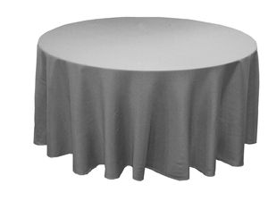 Silver 120in polyester tablecloth efavormart $12.28