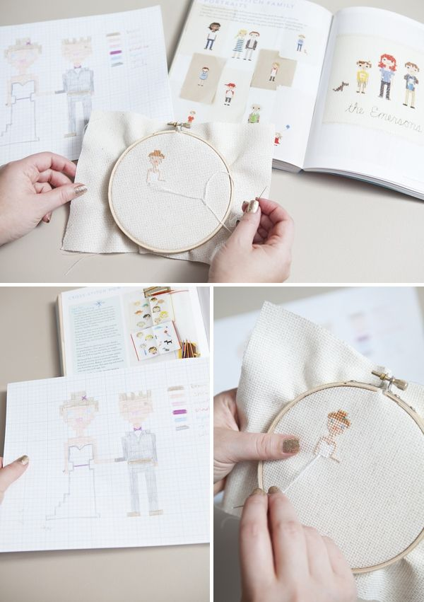 #DIY ~ how to cross-stitch your bridal portrait! #12MonthsofMartha