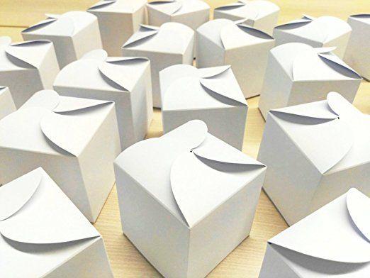 """Do it Yourself Geschenkboxen 24 weiße Boxen zur individuellen Gestaltung - zum selber zusammen basteln"""" - 24 x Schachtel, kleiner Karton für Geschenke, Freundschaft, Freunde, Familie, Partnerschaft"""