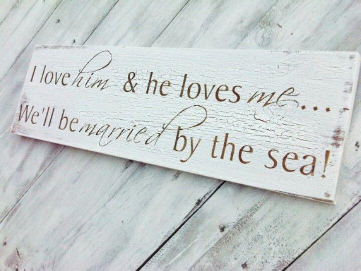 Vintage Beach Wedding Sign