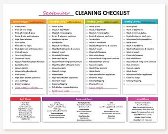 Printable Master House Cleaning List by GraceByFaith on Etsy