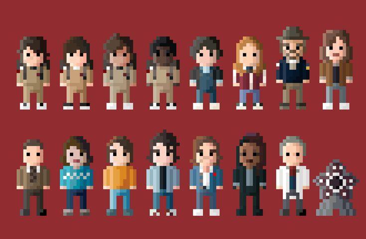 Stranger Things 2 Characters 8 Bit by LustriousCharming.deviantart.com on @DeviantArt