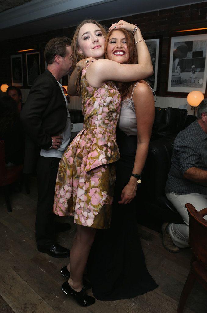 "Saoirse Ronan & Gemma Arterton at the WestEnd Films and Grey Goose Vodka party for ""Byzantium"" at Soho House Toronto, Septem..."