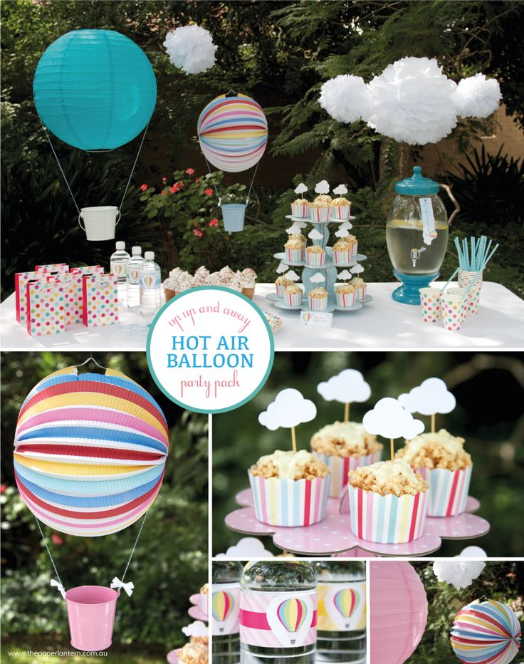 Hot Air Balloon Party Pack Board from The Paper Lantern. Absolutely gorgeous!