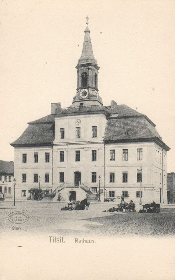 Tilsit. Rathaus 1900.  https://www.facebook.com/lostprussia/photos/a.601473756593533.1073741827.517377898336453/807726822634891/?type=1