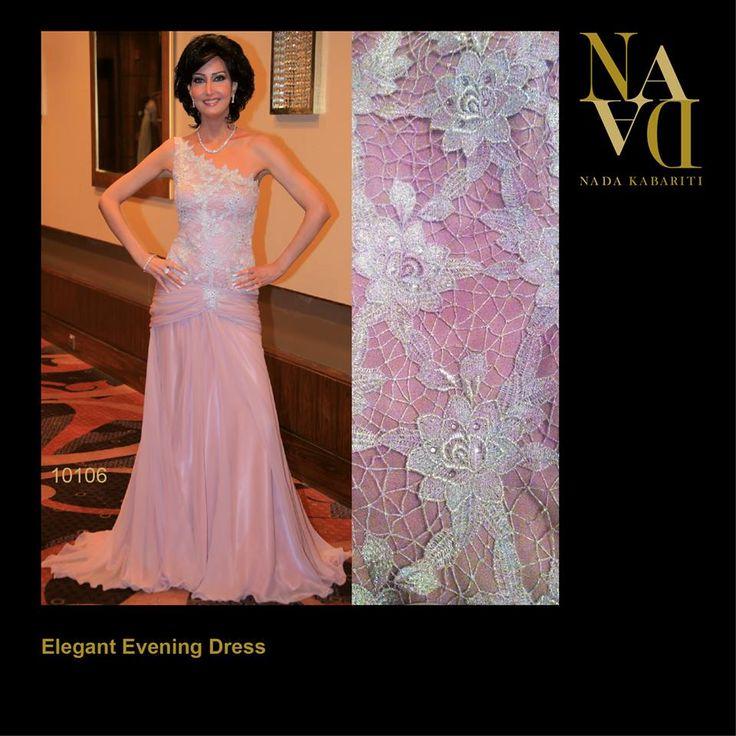 Elegant evening dress designed by Nada Kabariti. For orders contact: Jordan: 00962795086955 KSA & Bahrain: 00966597798178 Facebook: www.facebook.com/...