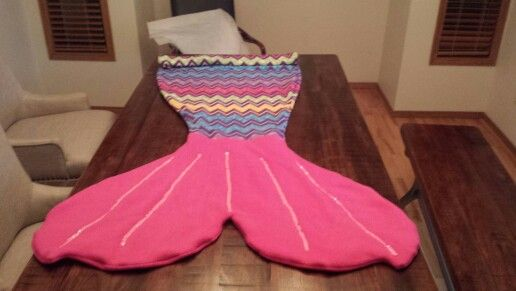 Mermaid tail sleep sac.  Made for a friend's daughter