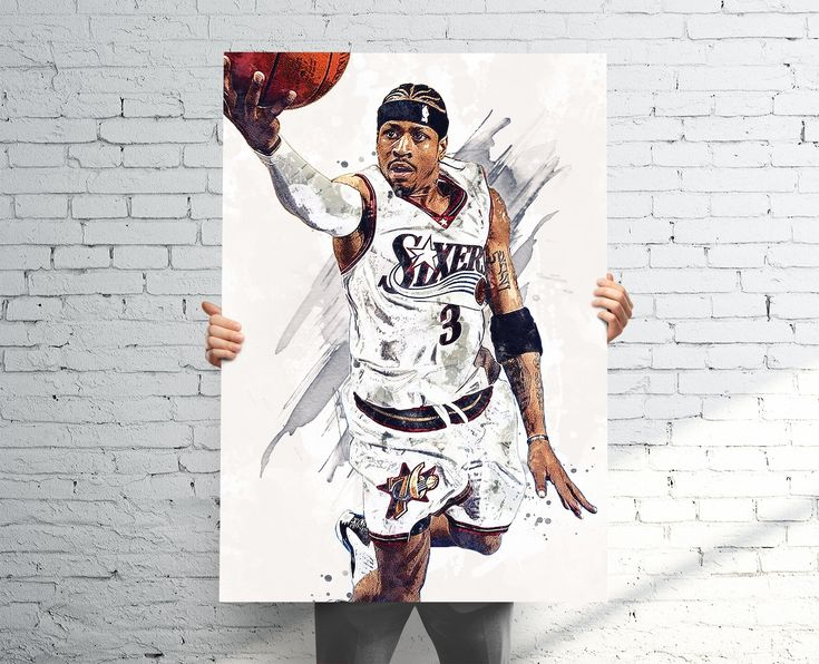 Allen Iverson Philadelphia 76ers Paint Splatter Poster / Canvas Print.High-quality prints, which make for the perfect gift for any fan, home, man cave, bedroom, or sports bar / pub decor.•••••••••••• POSTER PRINTS ••••••••••••• Printed on Premium Gloss Poster Paper (Epson 10.3 mil / 250 gsm).• Epson UltraChrome HD Ink (longer lasting, better color, resistant to UV fade).• 1-3 Open-Day Processing for most orders.• PICTURE FRAMES ARE NOT INCLUDED•••••••••••• CANVAS PRINTS ••••••••••••• Mounted: Ca
