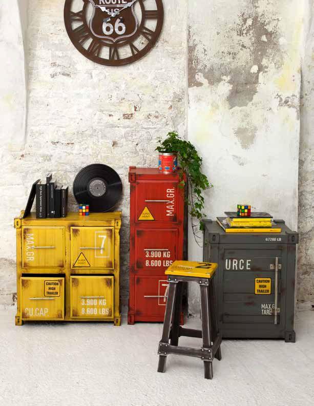 Arredamento Post Industriale Linea Wood Cargo Home