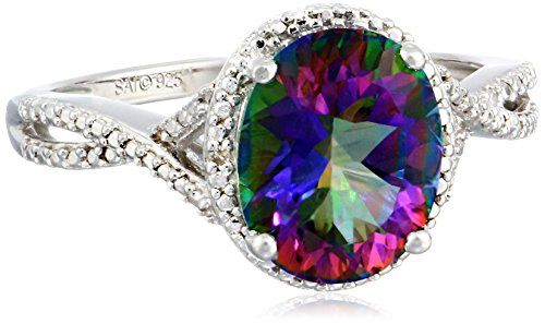 Sterling Silver Mystic Fire Topaz and Diamond-Accented Oval Ring, Size 7 Amazon Curated Collection http://www.amazon.com/dp/B00LGZ31FY/ref=cm_sw_r_pi_dp_JGJCub130TX1C
