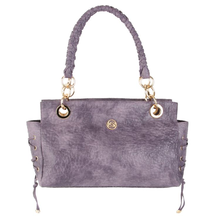 Bebe Stephanie Satchel -Purple - Fashion