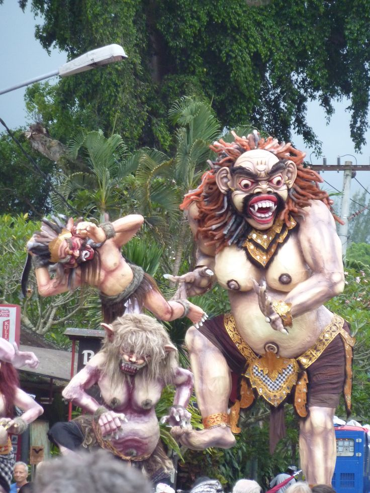 2011 Nyepi parade, Balinese New Year: https://www.bali.com/nyepi-day-of-silence.html