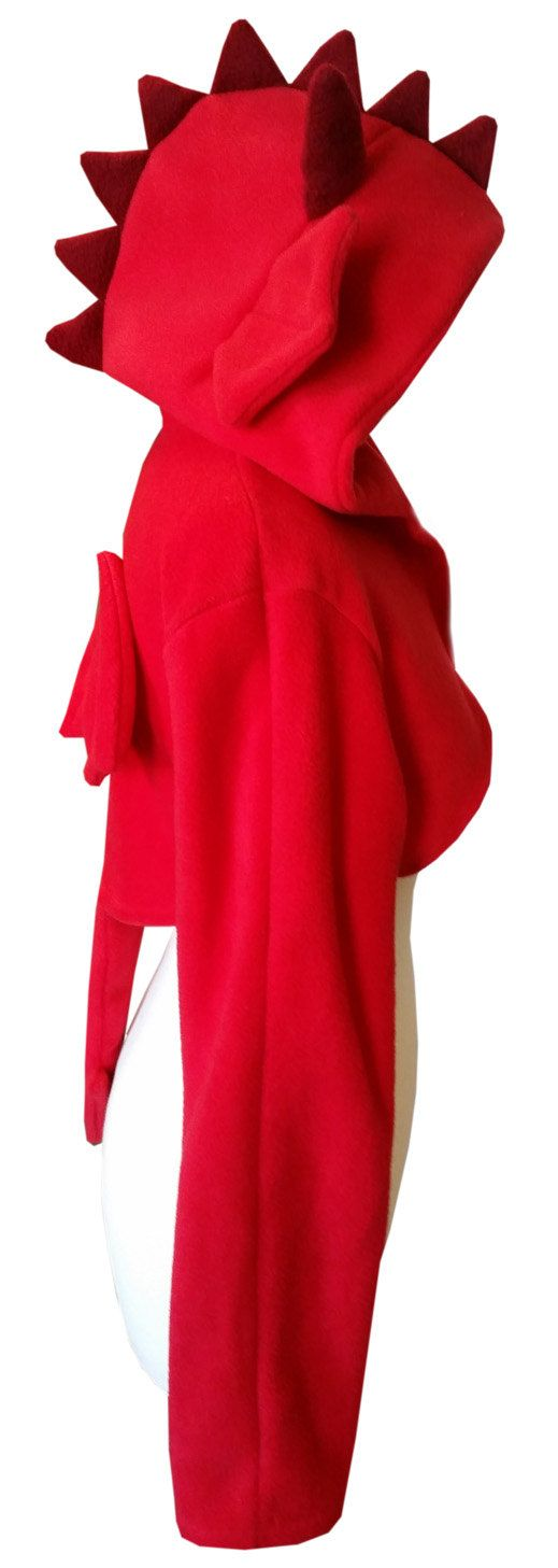 Cute red dragon hooded shrug by PretzlCosplay on Etsy