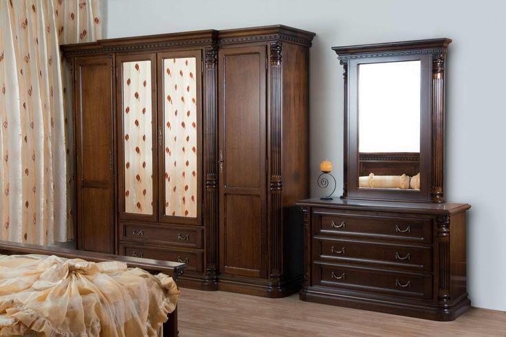 Mobila / Mobilier Dormitor Sorbona 2- dulap, comoda, oglinda