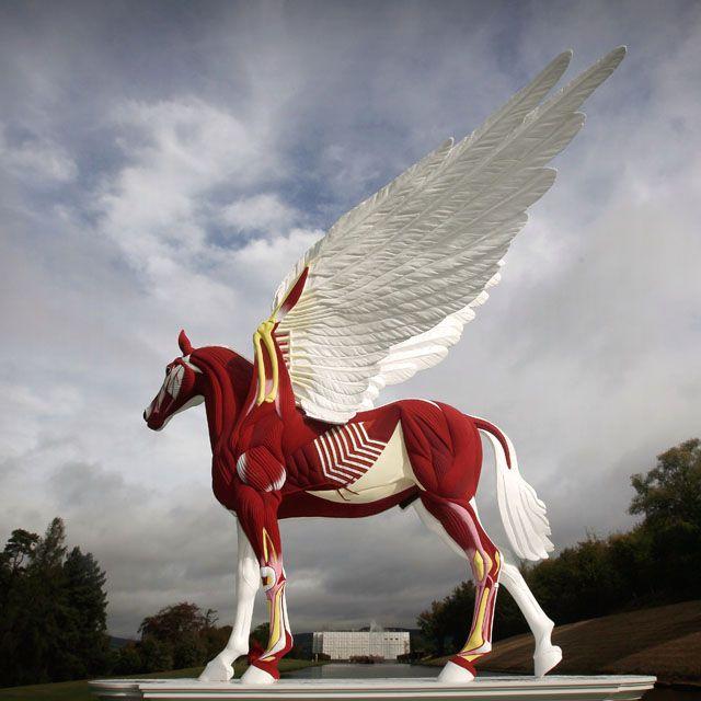 Amazing artwork ~ Legend by Damien Hirst, Chatsworth house. In Devon, England.