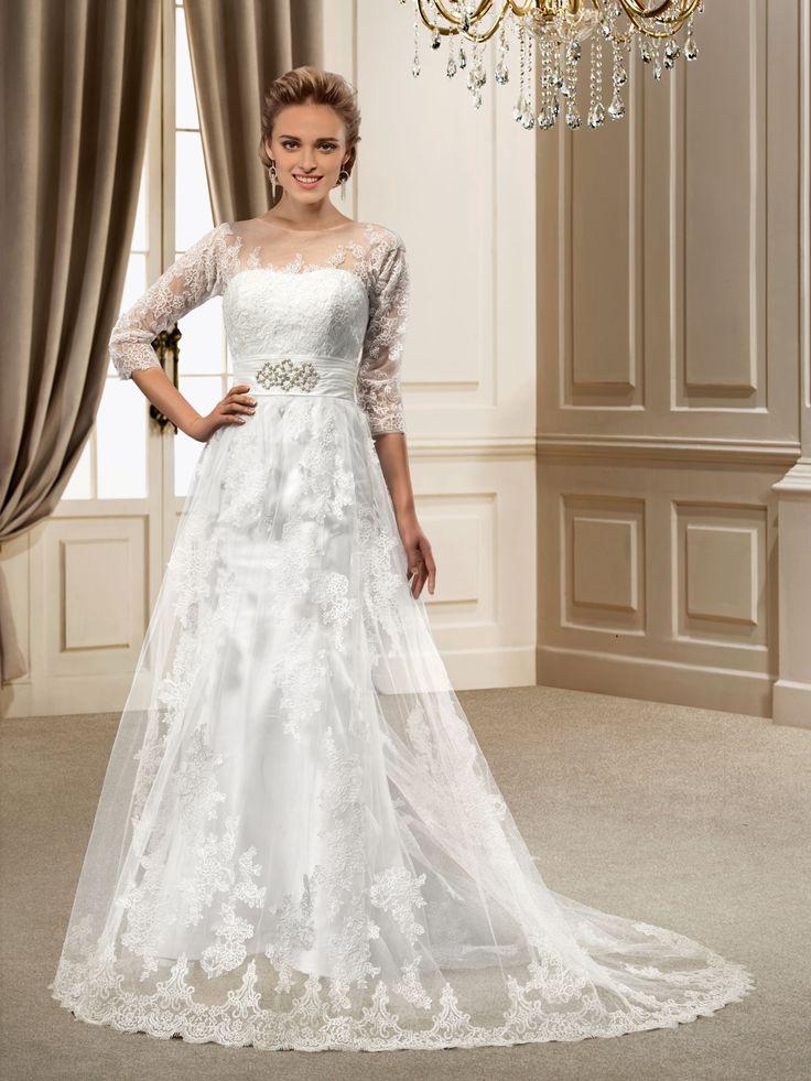 Court Zipper Up Sashes Ribbons Floor Length Jewel Elegant Luxurious Appliques All Sizes Wedding Dress