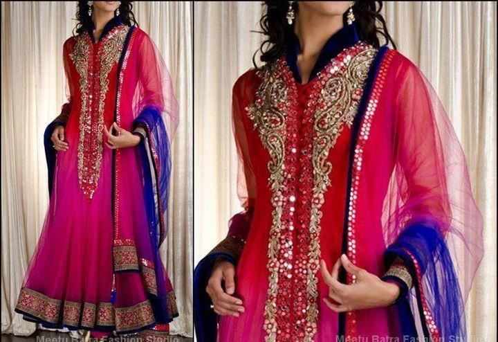 Meetu Batra's two toned Anarkali Dress, $ 300 http://www.facebook.com/meetu.batra Punjab