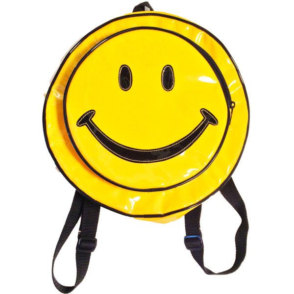 Vintage 90's Smiley Face Backpack - 90's Backpack- Grunge Backpack -... ($80) ❤ liked on Polyvore featuring bags, backpacks, accessories, handle bag, vinyl backpack, piping bag, miniature backpack and grunge backpack
