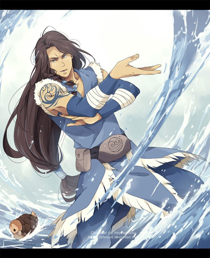 avatar the last airbender oc Here, have some water! by