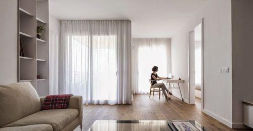 Desain Apartemen Minimalis Modern Karya Nook Architects - desainrumahnya.com #design,  #luxury  #living room,  #interior -  cute