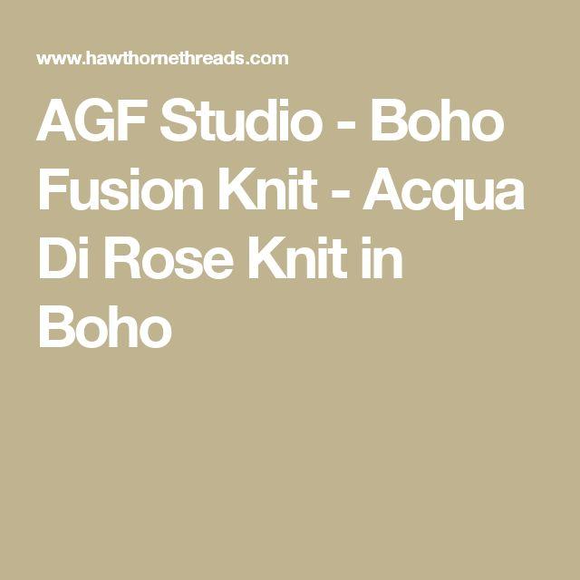 AGF Studio - Boho Fusion Knit - Acqua Di Rose Knit in Boho