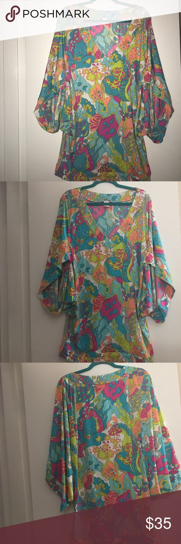 Trina Turk cover up Beautiful, light and colorful cover up. Lightly worn Trina Turk Swim Coverups