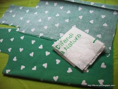 Creare un cartamodello da un sacchetto di plastica