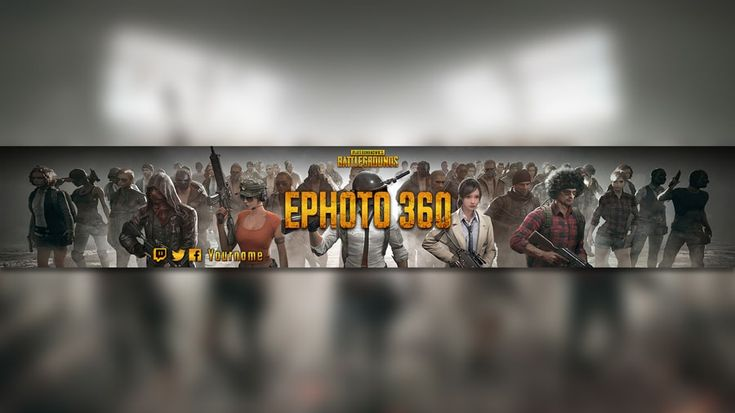 Create a youtube banner game of pubg cool banner