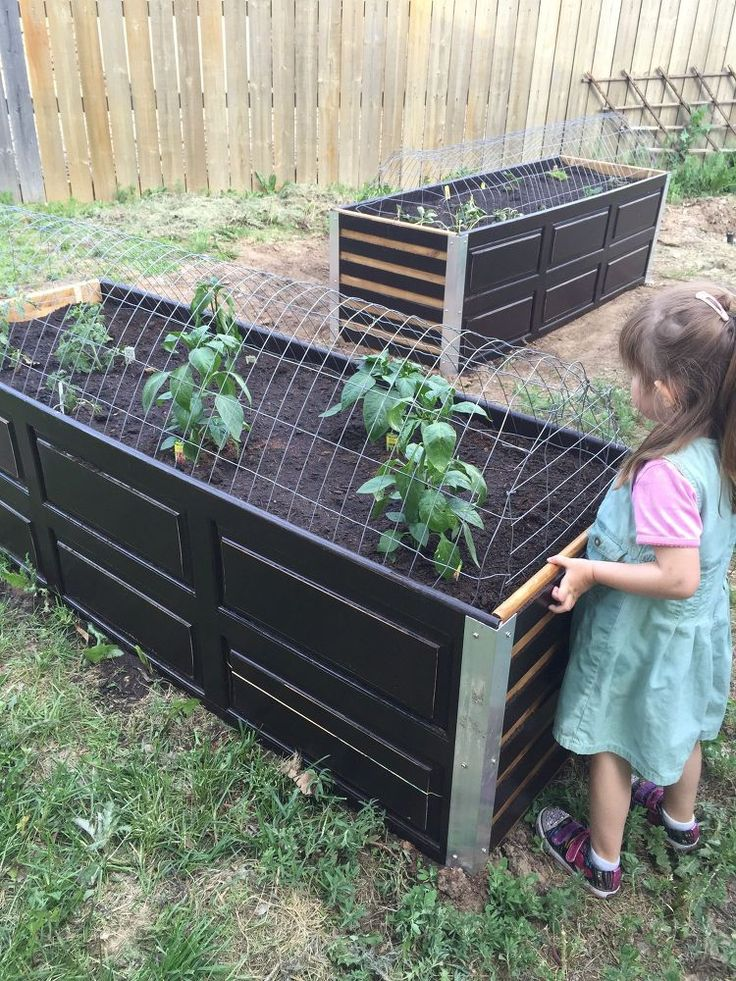Repurposed /Upcycled Garden Planter Boxes
