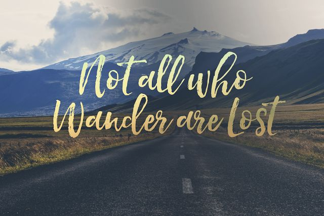 'not all who wander are lost' desktop background | Laiana Isabel