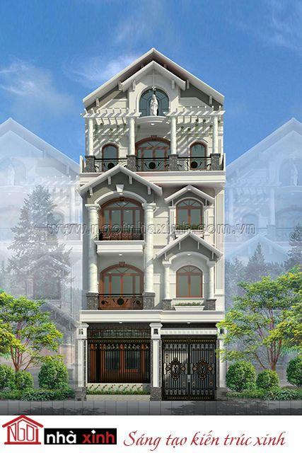 Mẫu thiết kế nhà phố phong cách cổ điển