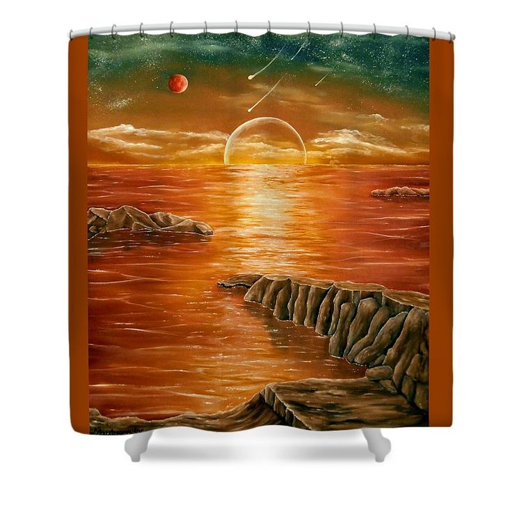 Shower Curtain,  bathroom,accessories,unique,fancy,cool,trendy,artistic,awesome,beautiful,modern,home,decor,design,for,sale,unusual,items,products,ideas,orange,brown,colorful,sunset,ocean,coastal