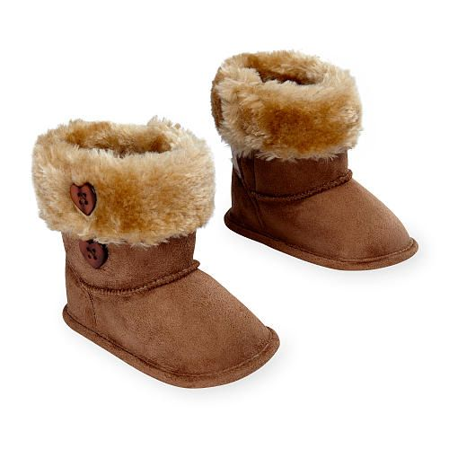 koala baby soft sole sherpa boot with button