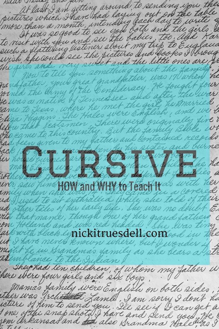 How to Teach Cursive Handwriting | The OT Toolbox