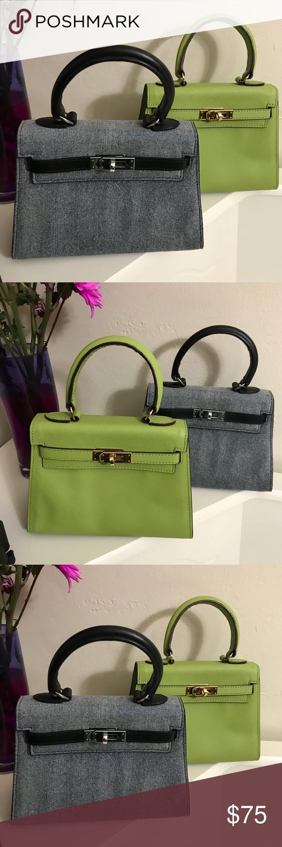 """House of Hello Kelly Bag - """"I'm not a Hermes Bags"""" Authentic from House of Hello - I have two and priced to sell. Comes with just bag. No locks - thanks . No defects. Carried once each house of hello Bags Baby Bags"""