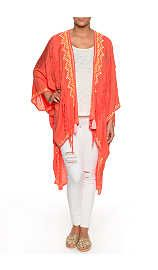 Cape Maya Coat CORAL - no worries it is summer - Raglady