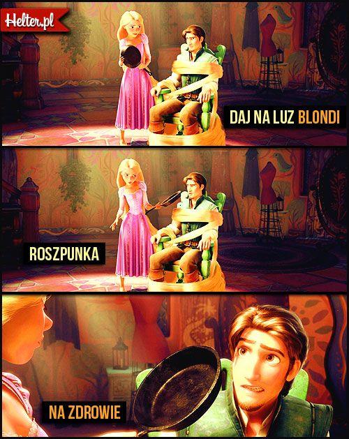 Disney Cytaty Filmowe Zaplątani Disney śmieszne Cytaty