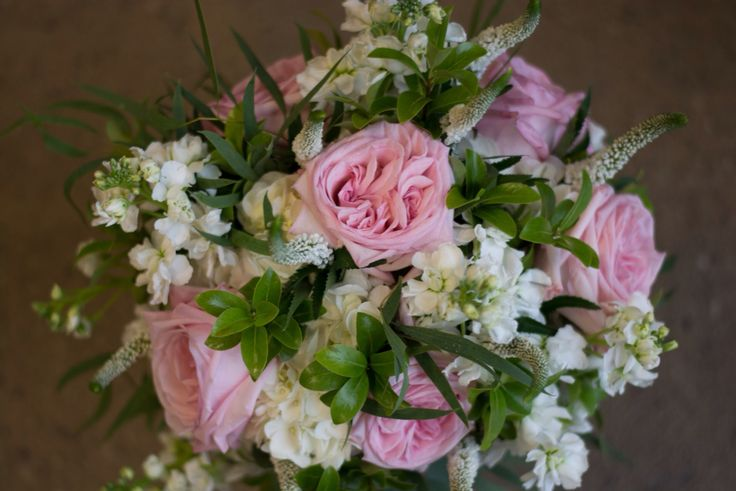 Garden roses, stocks, Veronica