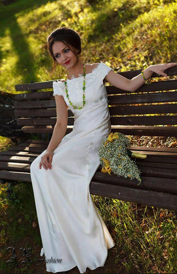 Boho Silk Wedding dress. Empire Wedding Dress. Silk A-line  #couture #couturefashionweek #catwalk #fashion #fashionlook #weddingdress #wedding #weddingday #designerwedding #designerweddingdress #designerweddings #designerweddinggown #bridal #bridalgown #laceweddingdress #lacewedding #laceweddinggown #weddinggown #bridalgowns #bridaldress #weddingdresses #beachweddingdress #beachwedding