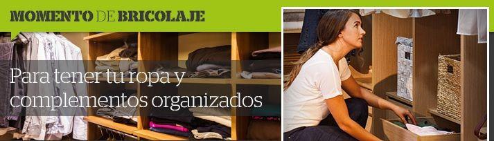 🛠Momentos de Bricolaje🛠  Te enseñamos cómo aprovechar el espacio en tus armarios al cambiar la ropa de temporada 👚👖